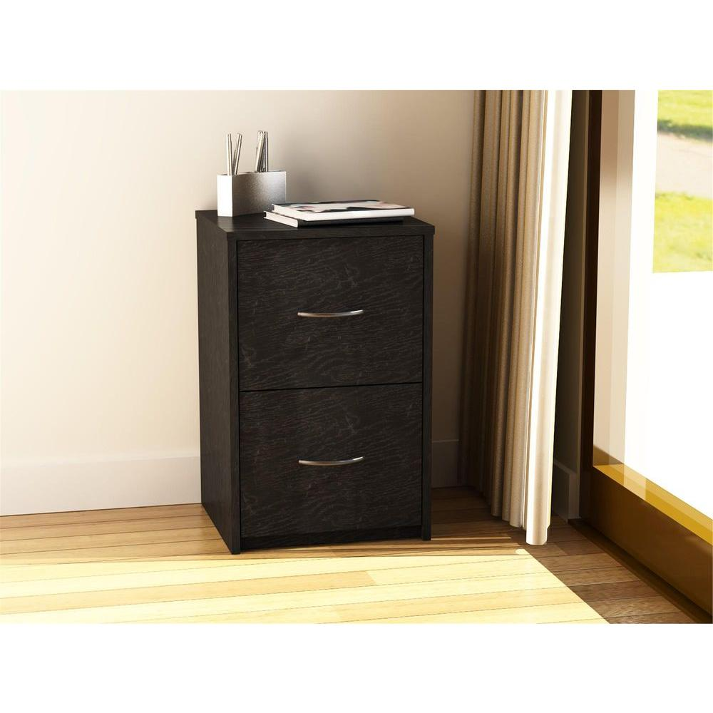 Ameriwood Black Ebony Ash File Cabinet-9524026PCOM - The Home Depot