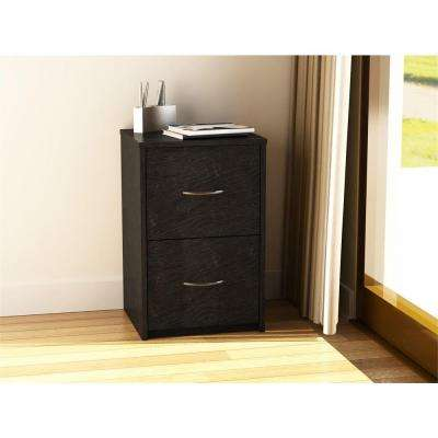 Black Ebony Ash File Cabinet