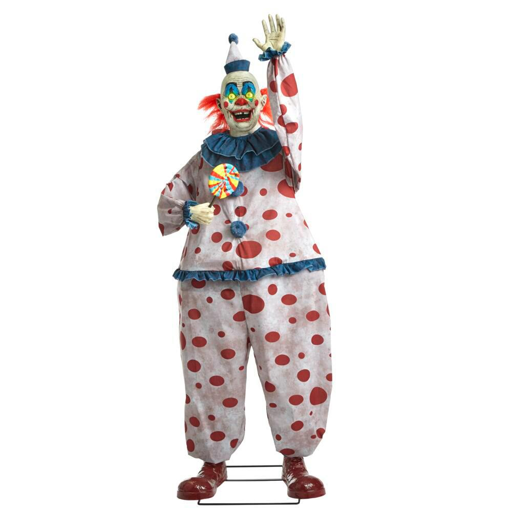 6.9 ft. Life-Sized Animated Old Time Clown