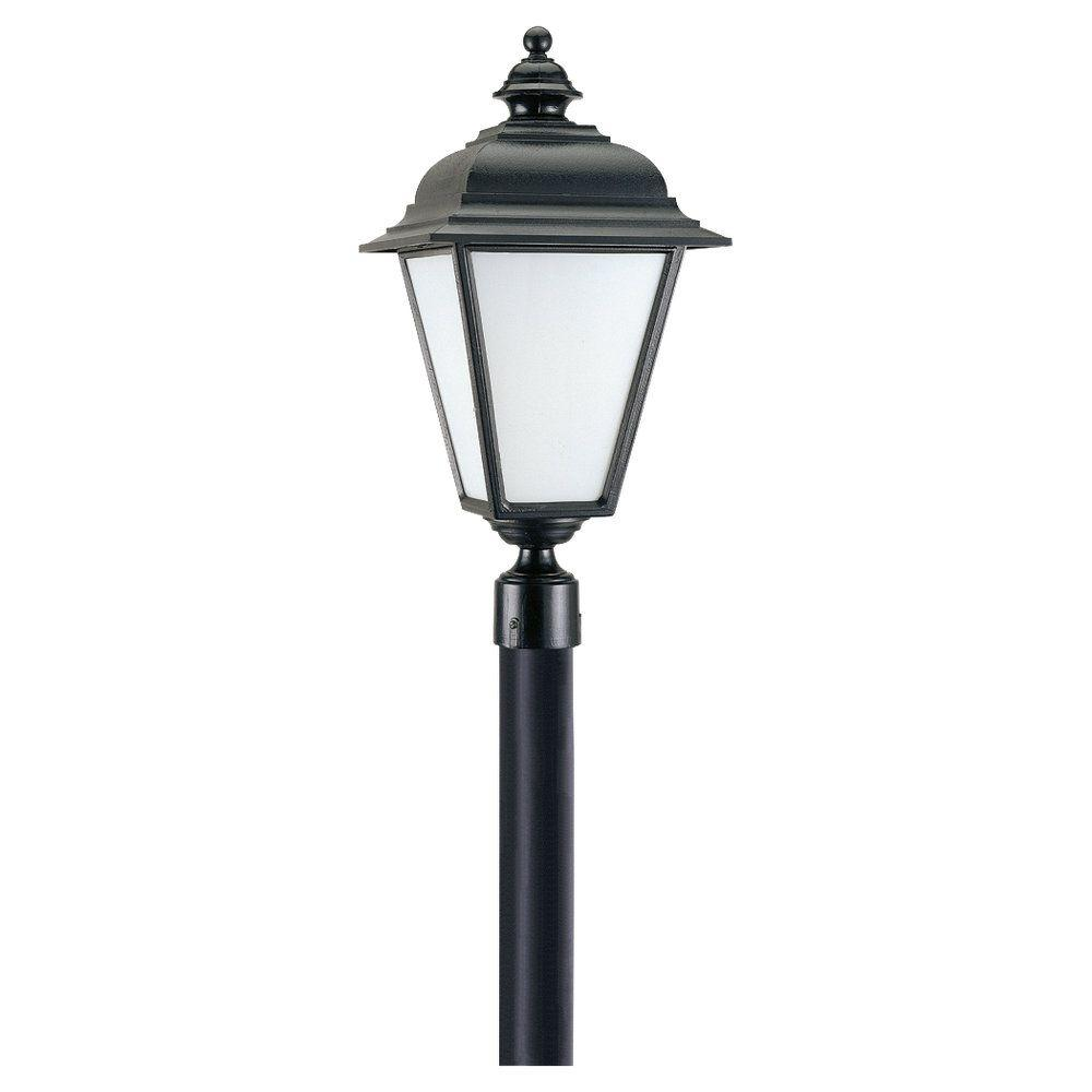 Sea Gull Lighting Bancroft 1-Light Outdoor Black Post Top-DISCONTINUED
