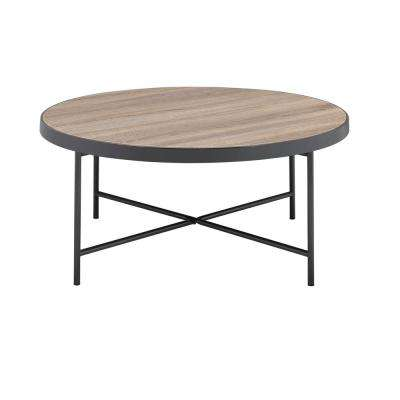 Bage Weathered Gray Oak Water Resistant Coffee Table