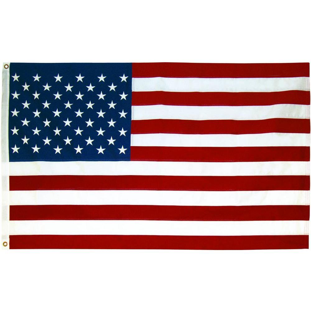Seasonal Designs 3 ft. x 5 ft. Polycotton U.S. Flag