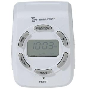 Intermatic 15 Amp Plug-In 2-Outlet Heavy Duty Digital Indoor Timer - White by Intermatic