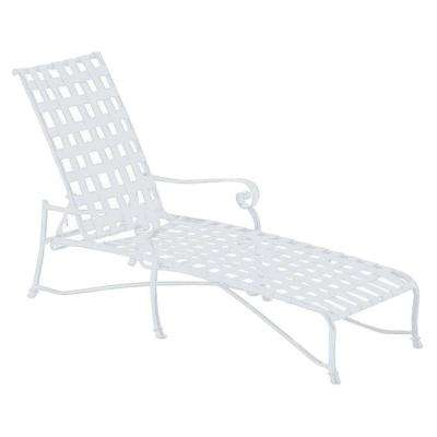 Vallero Crossweave Contract White Patio Chaise Lounge