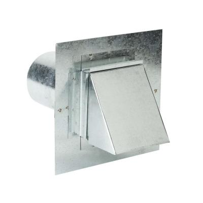 8 in. x 4 in. Steel Dryer Vent Stucco Ready with Damper