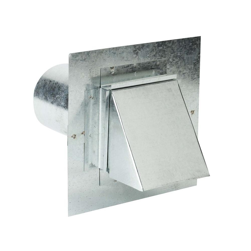 gibraltar building products 8 in x 4 in steel dryer vent stucco ready with damperdv4 the home depot