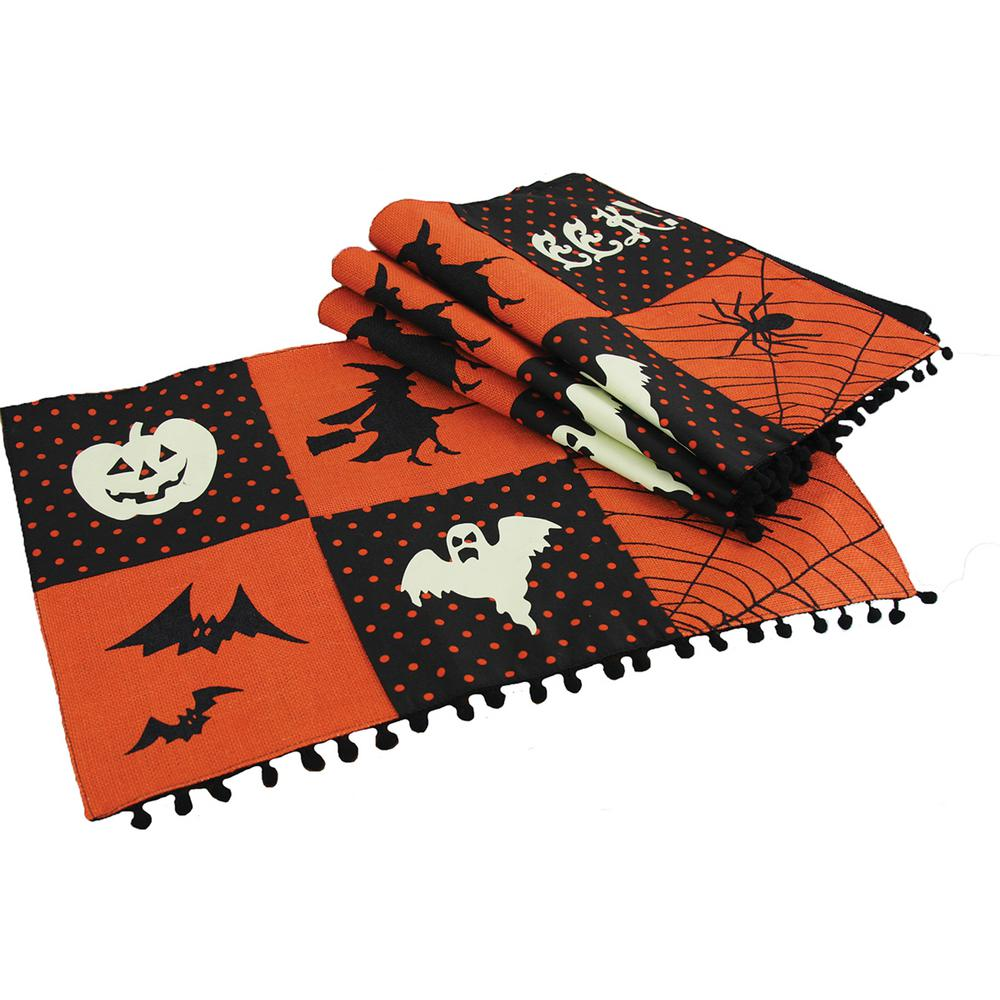 0.2 in. x 13 in. x 18 in. Halloween Patchwork Placemats