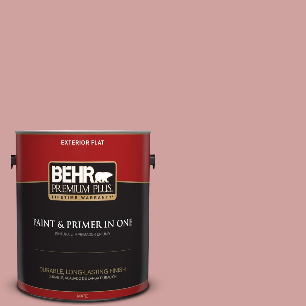 BEHR Premium Plus 1 gal. #S150-3 Rose Pottery Flat Exterior Paint ...