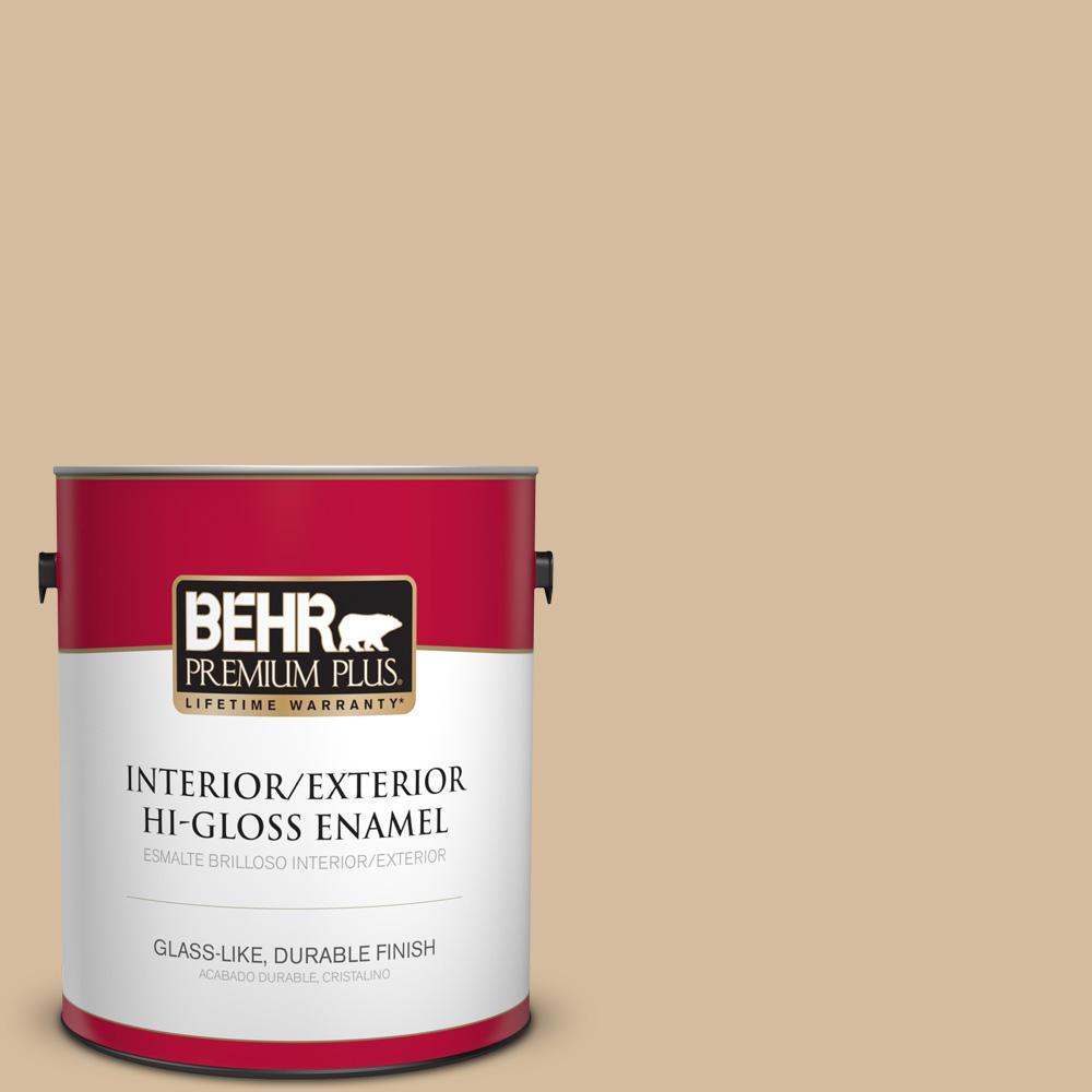 1 gal. #T18-06 Kombucha Hi-Gloss Enamel Interior/Exterior Paint