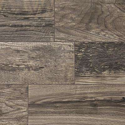 Take Home Sample - Cinder Wood Fusion Laminate Flooring - 5 in. x 7 in.