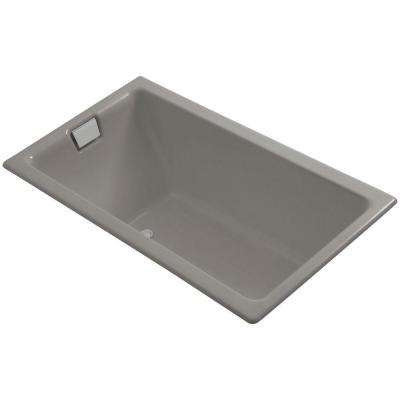 Tea-for-Two 5.5 ft. End Drain Soaking Tub in Cashmere