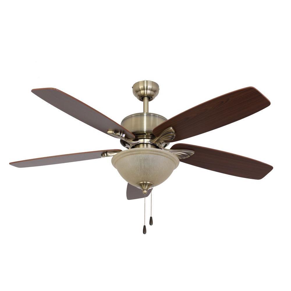 Buxton 52 in. Aged Brass Ceiling Fan