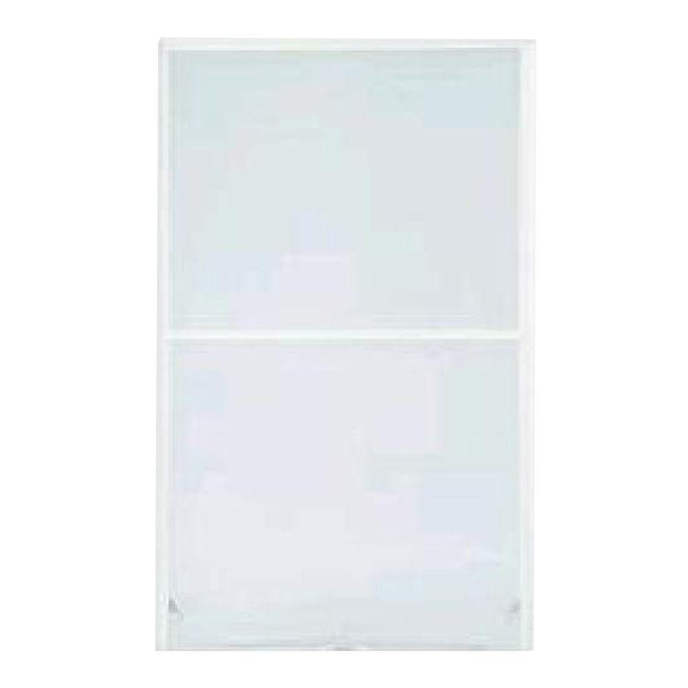 S-9 24 in. x 46 in. White Aluminum Awning Security Window