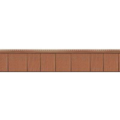 8-1/2 in. x 60-3/4 in. Treated Cedar Engineered Rigid PVC Shingle Panel 7.5 in. Exposure (32 per Box)