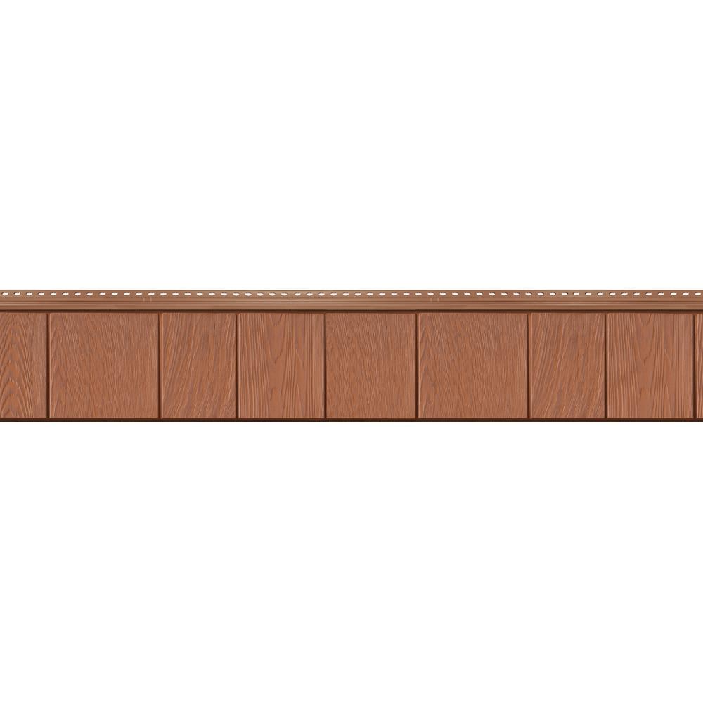 8-1/2 in. x 60-3/4 in. Treated Cedar Engineered Rigid PVC Shingle Panel 7.5 in. Exposure (32 per Box)