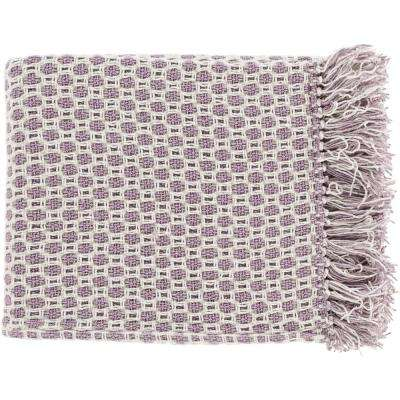 Victor Mauve Cotton Throw