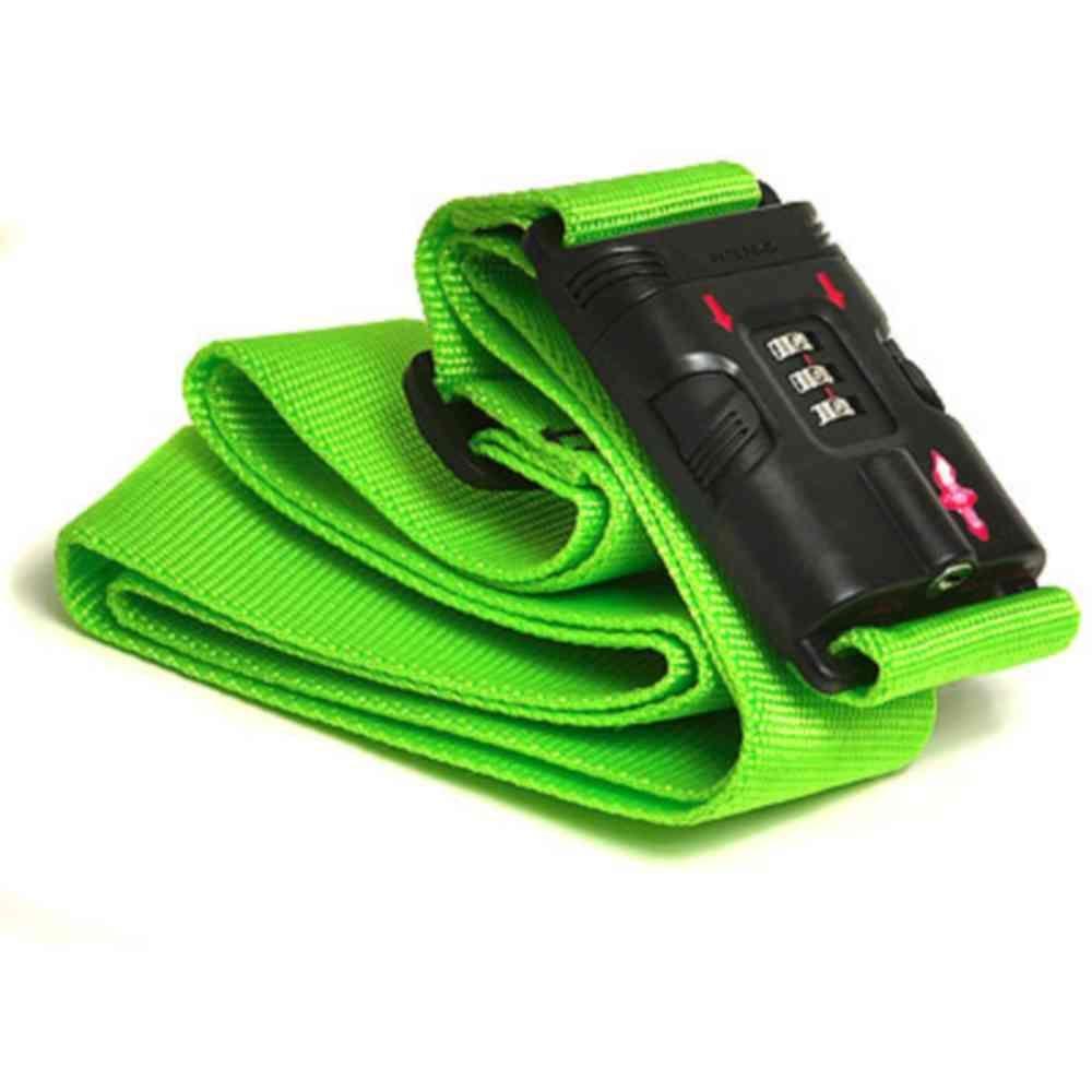 TSA-Approved Neon Green Luggage Strap