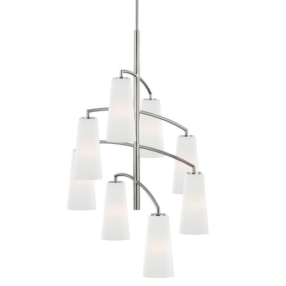 Coddington 8-Light Brushed Steel Chandelier Shade