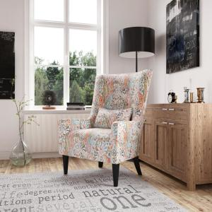 Handy Living Venecia Mango Orange Multi Paisley Shelter High ...