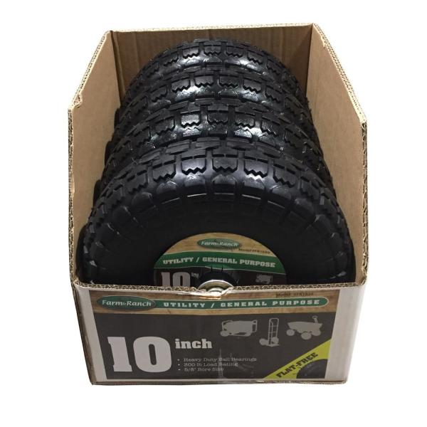 Farm /& Ranch FR1030 10-Inch No-Flat Replacement Turf Tire for Hand Trucks and Utility Carts