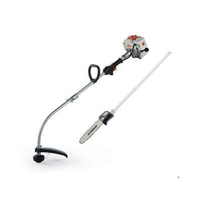 2-Cycle 26 cc Gas Full Crank Shaft 2 in 1 Multi Function String Trimmer with Pole Saw Attachment
