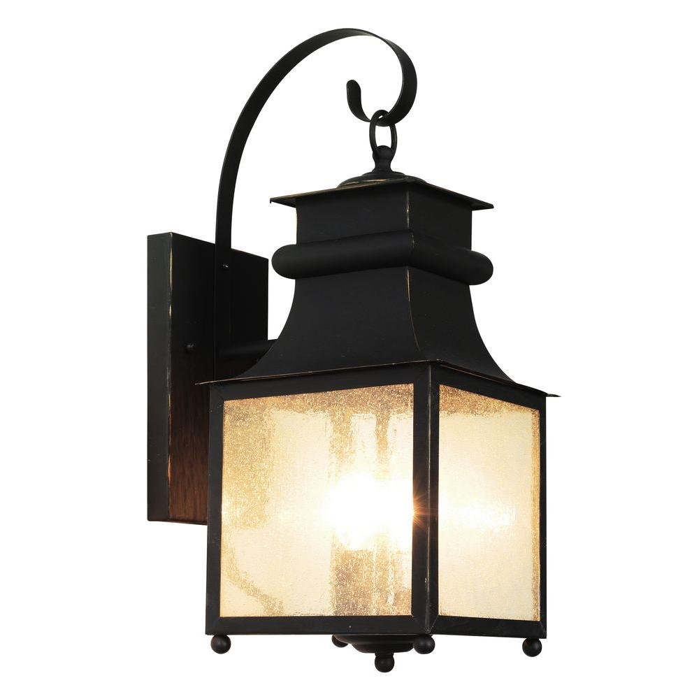 Stewart 3-Light Outdoor Weather Bronze Incandescent Wall Lantern