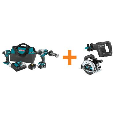 18V LXT Brushless 2-Piece Combo Kit with Bonus 18V LXT Brushless Recipro Saw and 18V LXT Brushless 6-1/2 in. Circ Saw