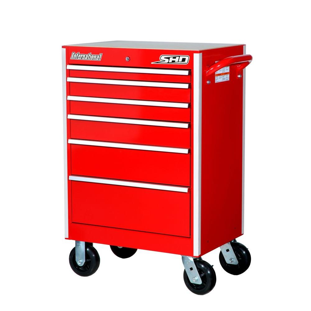 27 in. SHD Series 6-Drawer Cabinet, Red