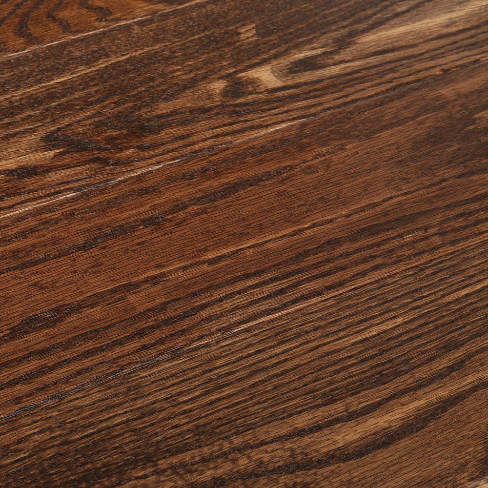 American Vintage Scraped Mocha 3/4 in. T x 5 in. W x Varying L Solid Hardwood Flooring (23.5 sq. ft. / case)