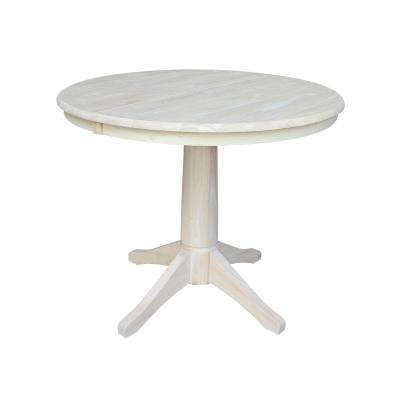Olivia Unfinished Oval Solid Wood Dining Table