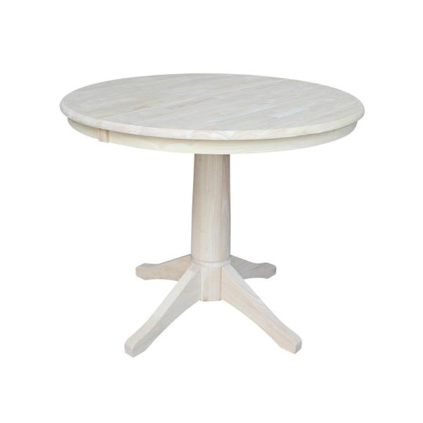 International Concepts Olivia Unfinished Oval Solid Wood Dining Table K-36RXT-27B