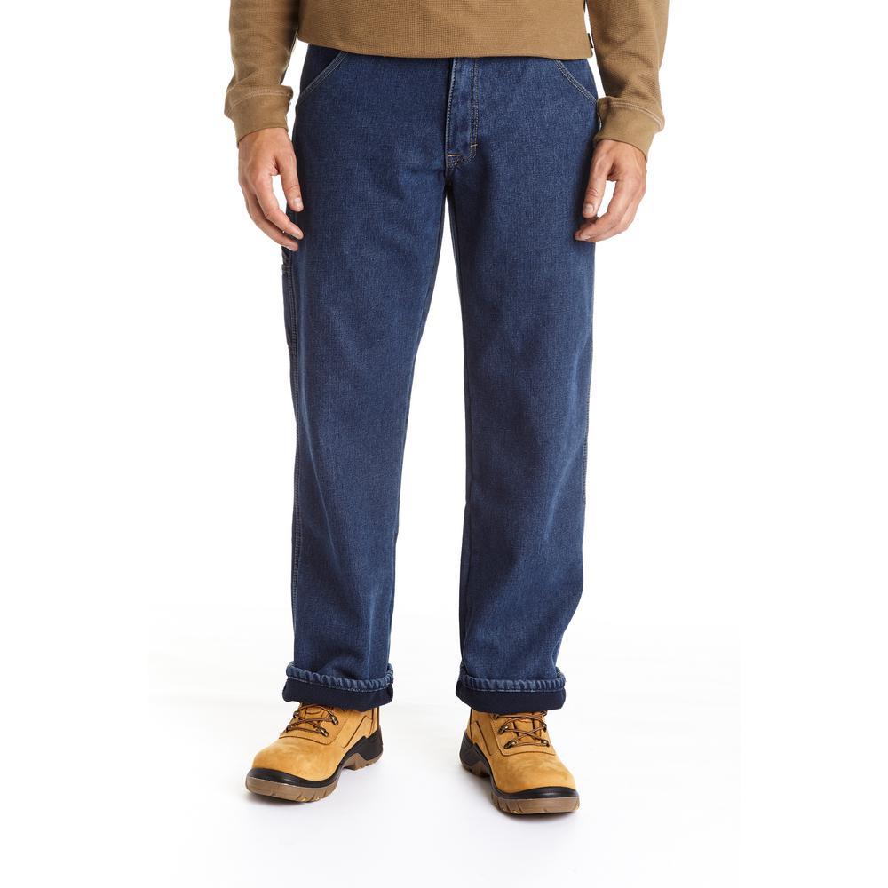 Men's 32x30 Denim Blue Bonded Utility Denim Jean