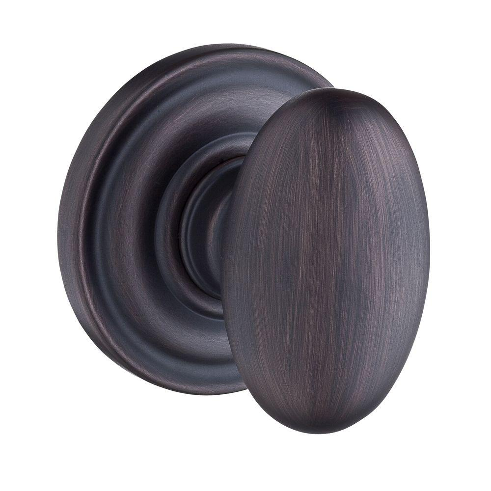 Reserve Ellipse Venetian Bronze Bed/Bath Knob with Traditional Round Rose