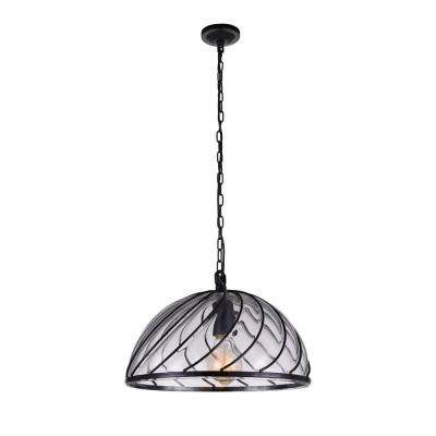 Escot 1-Light Black Pendant