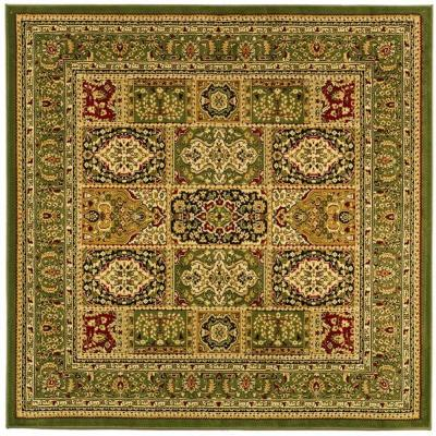 Lyndhurst Multi/Green 8 ft. x 8 ft. Square Area Rug