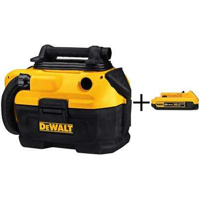 2 Gal. Cordless/Corded Wet/Dry Vacuum (Tool-Only) with 2Ah XR Battery Pack