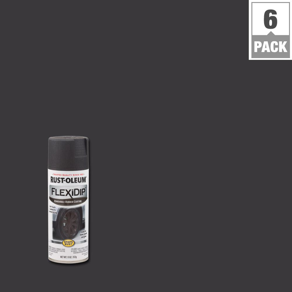 Rust-Oleum FlexiDip 11 oz. Graphite (Grey) Spray Paint (6...