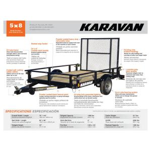 Karavan 1483 lb. Payload Capacity Trailer-KHD-2000-60-8-SR - The Home on triton snowmobile trailer wiring diagram, karavan snowmobile trailer tires, karavan snowmobile trailer parts, r&r snowmobile trailer wiring diagram, featherlite snowmobile trailer wiring diagram,