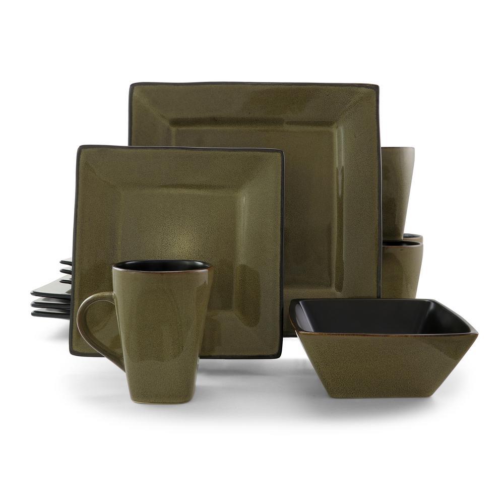 Kiesling 16-Piece Casual Tan Stoneware Dinnerware Set (Service for 4)