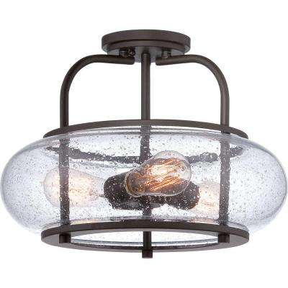 Trilogy 3-Light Bronze Semi-Flush Mount Light