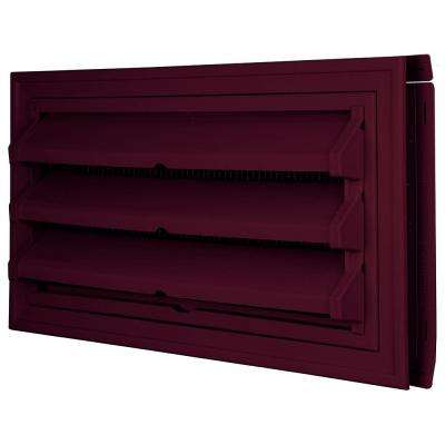 9-3/8 in. x 17-1/2 in. Foundation Vent Kit with Trim Ring and Optional Fixed Louvers (Galvanized Screen) #078 Wineberry