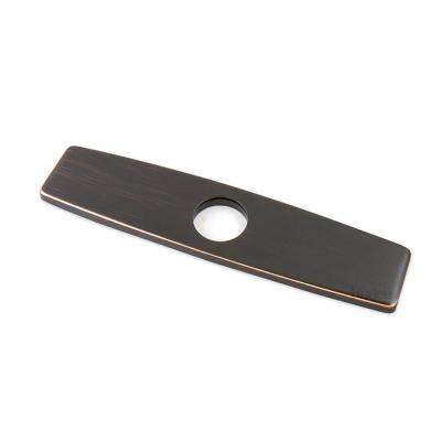 10 in. Brass Kitchen Sink Faucet Hole Cover Deck Plate Escutcheon in Oil Rubbed Bronze