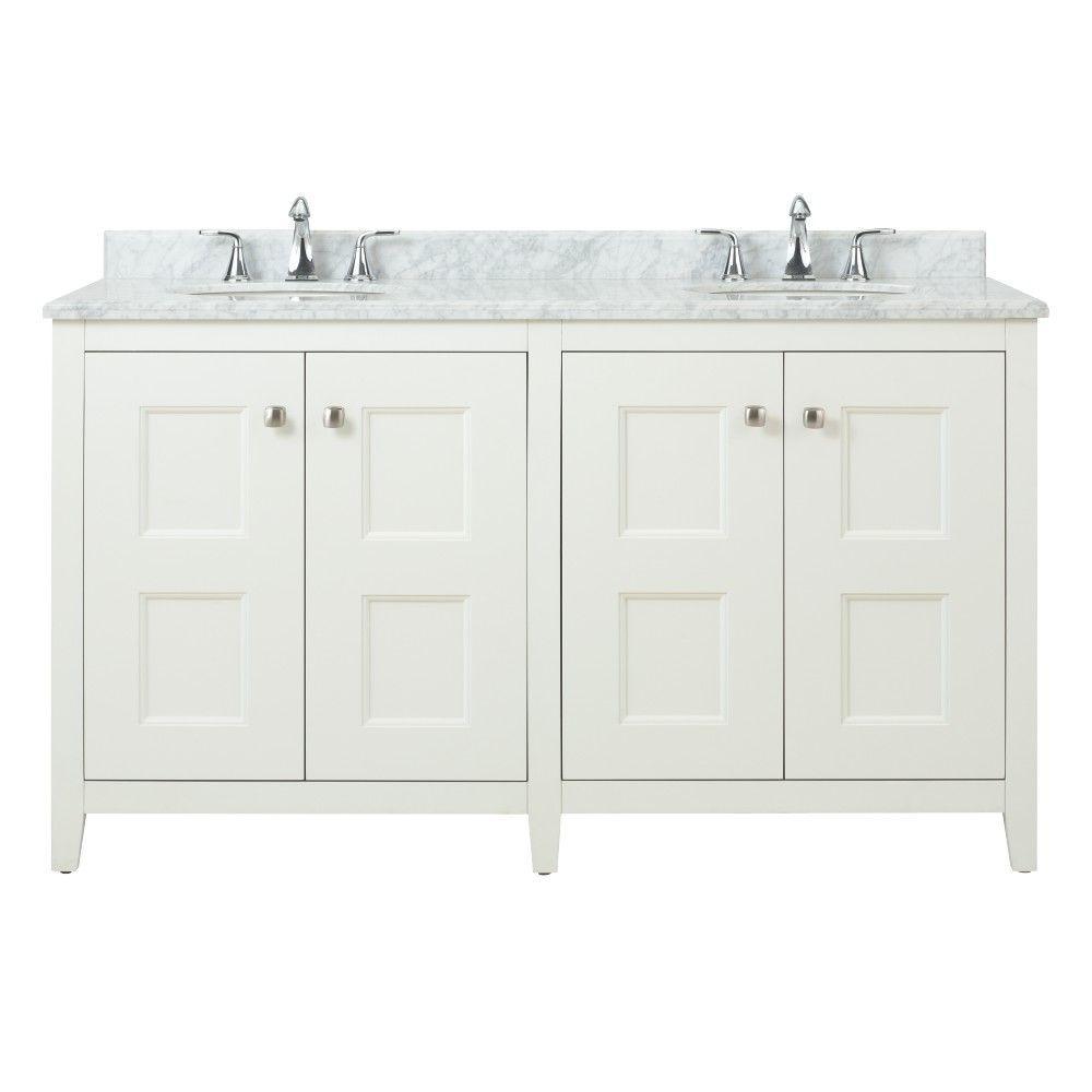 Square Vanity White Natural Marble Vanity Top Grey White Basin