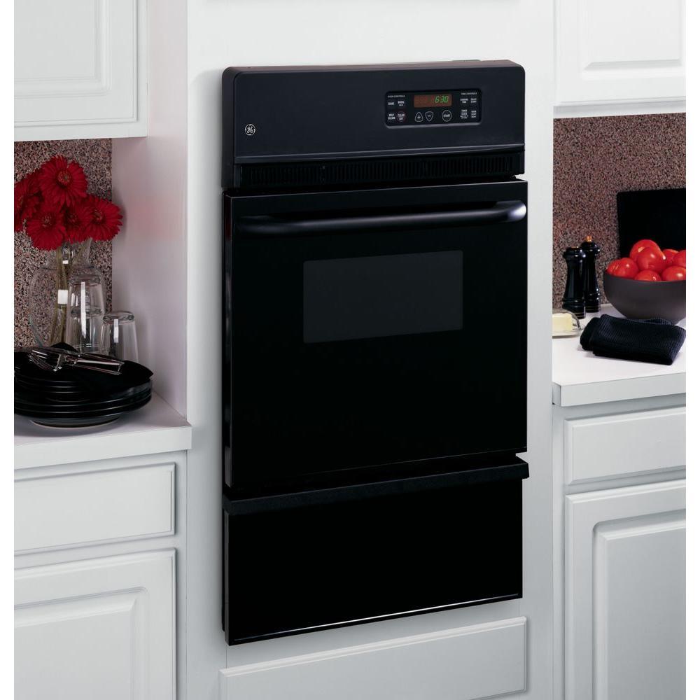 Ge 24 In Single Gas Wall Oven Self Cleaning Black Jgrp20bejbb