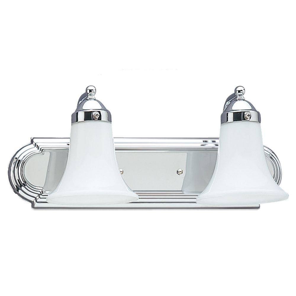 Sea Gull Lighting Astoria 2-Light Chrome Vanity Fixture