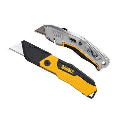 Folding Utility Knife and Retractable Utility Knife Set (2-Piece)