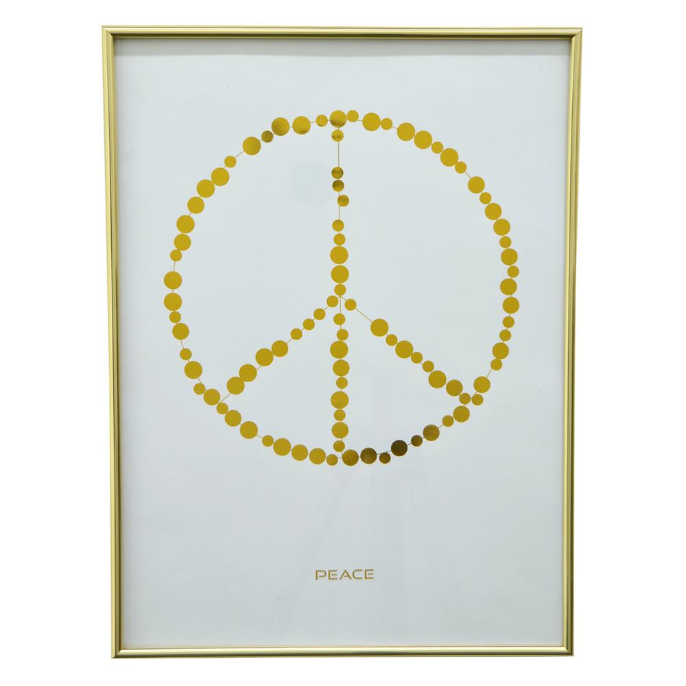 dad6f05658e9 THREE HANDS 13.5 in. x 18.25 in. Printed Framed Inspirational Art in ...
