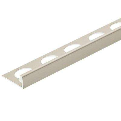 Satin Silver Anodized 3/8 in. x 98-1/2 in. Aluminum L-Shaped Tile Edging Trim