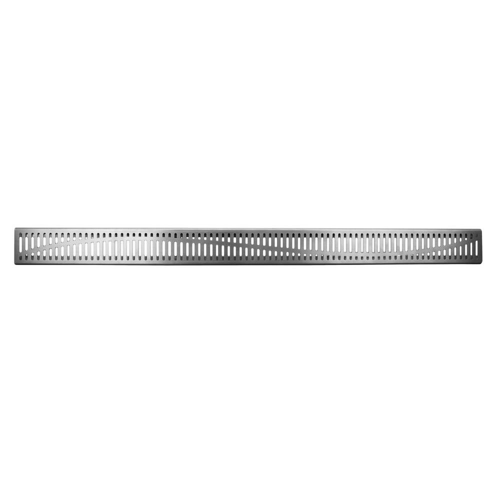 null Linear Channel Shower Drains 32 in. Tide Shower Grate Only