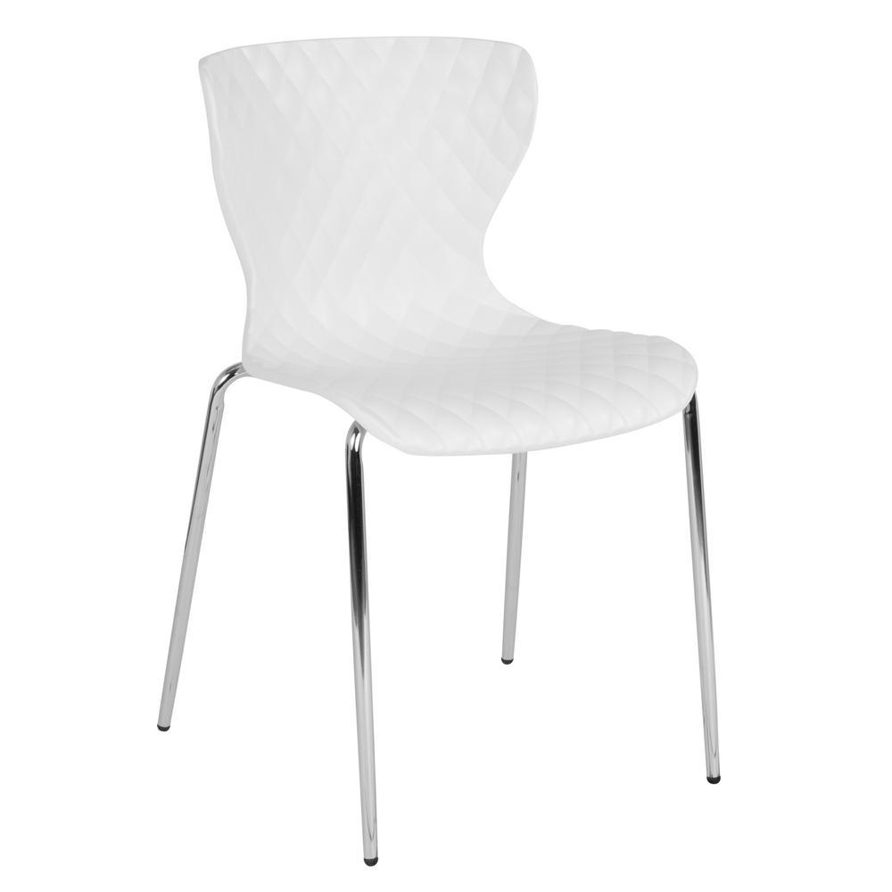 White Plastic Office/Desk Chair